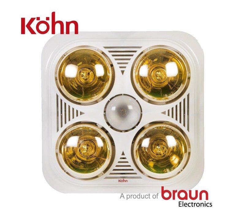 Đèn sưởi âm trần Braun Kohn BU04G