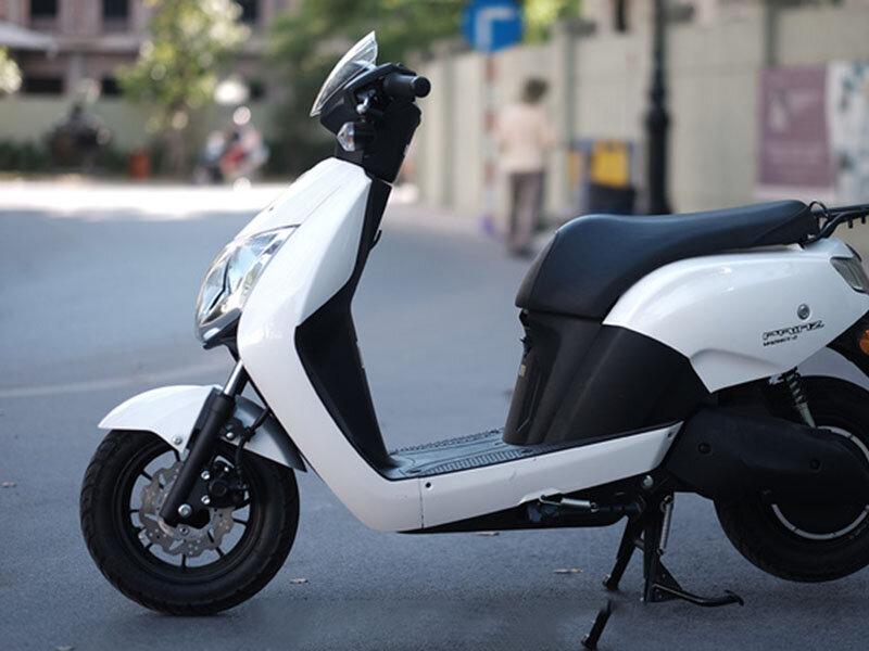 Cận cảnh chiếc xe máy điện Honda Prinz