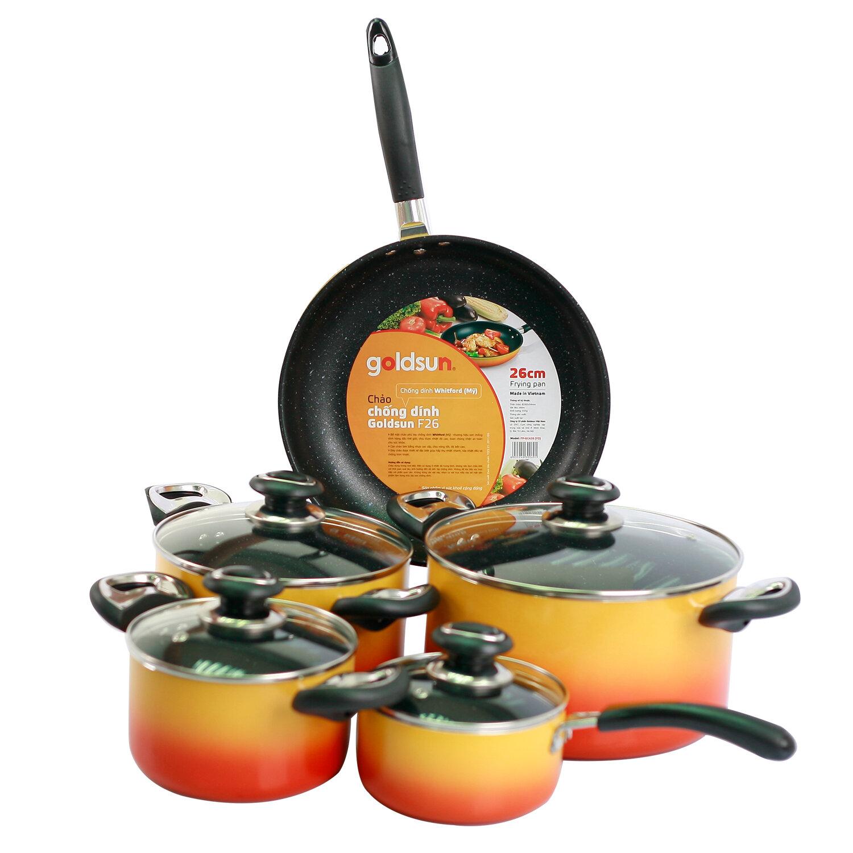 Bộ nồi Goldsun dùng bếp từ phù hợp với đa dạng nhu cầu