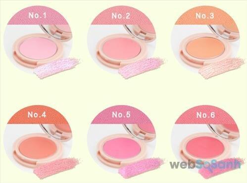 Má hồng dạng kem Skinfood Rose Essence Soft Cream Blusher có 6 tone màu trẻ trung