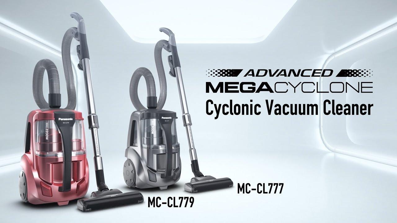 Dòng sản phẩm máy hút bụi hiện đại Mega Cyclone của Panasonic
