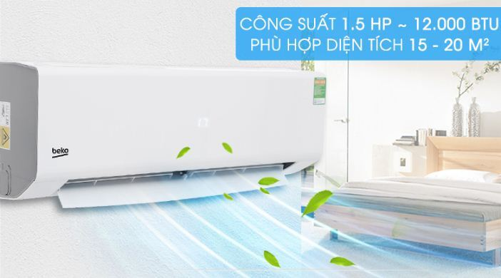 Điều hòaBeko 1.5 HP RSSC12CV- Giá rẻ nhất: 5.894.000 vnđ