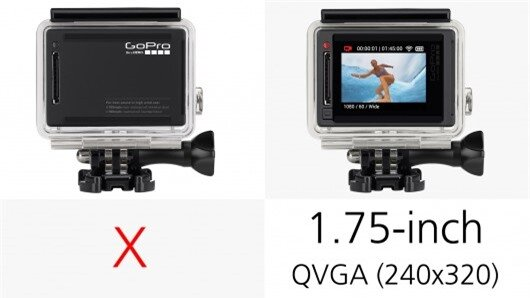 The GoPro Hero4 Silver is the first and only GoPro actioncam to boast a built-in touchscre...