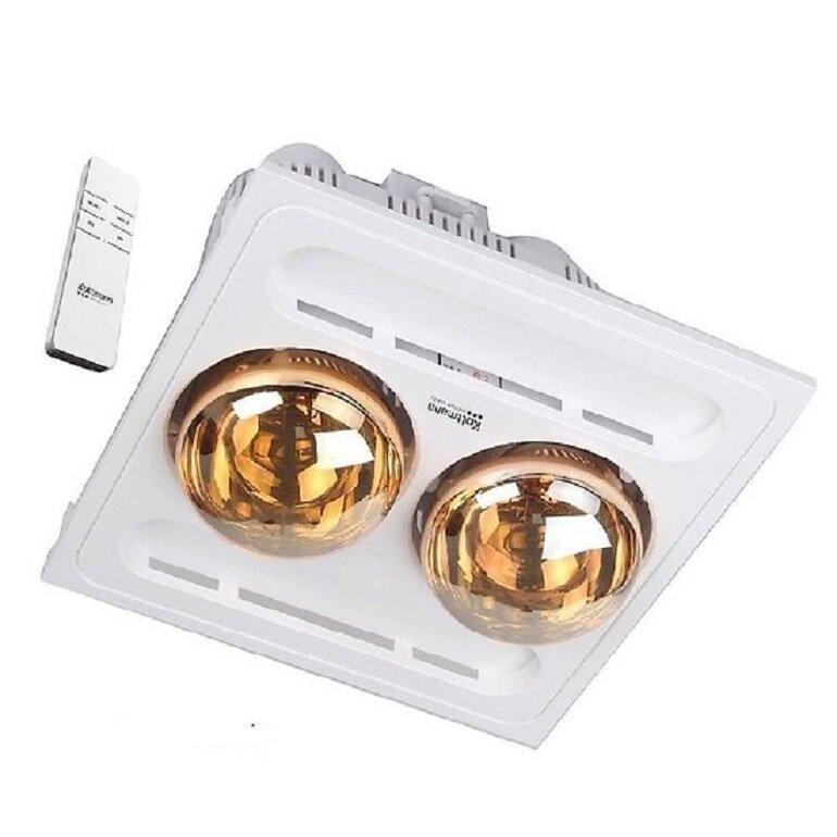 Có nên dùng đèn sưởi nhà tắm 2 bóng cho diện tích nhỏ không?