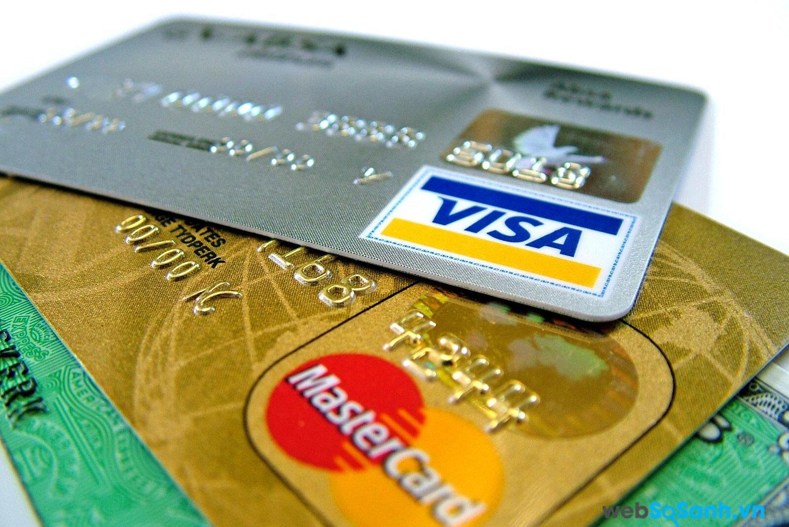 VISA, Mastercard, AMEX là những thẻ thanh toán quốc tế kahs phổ biến