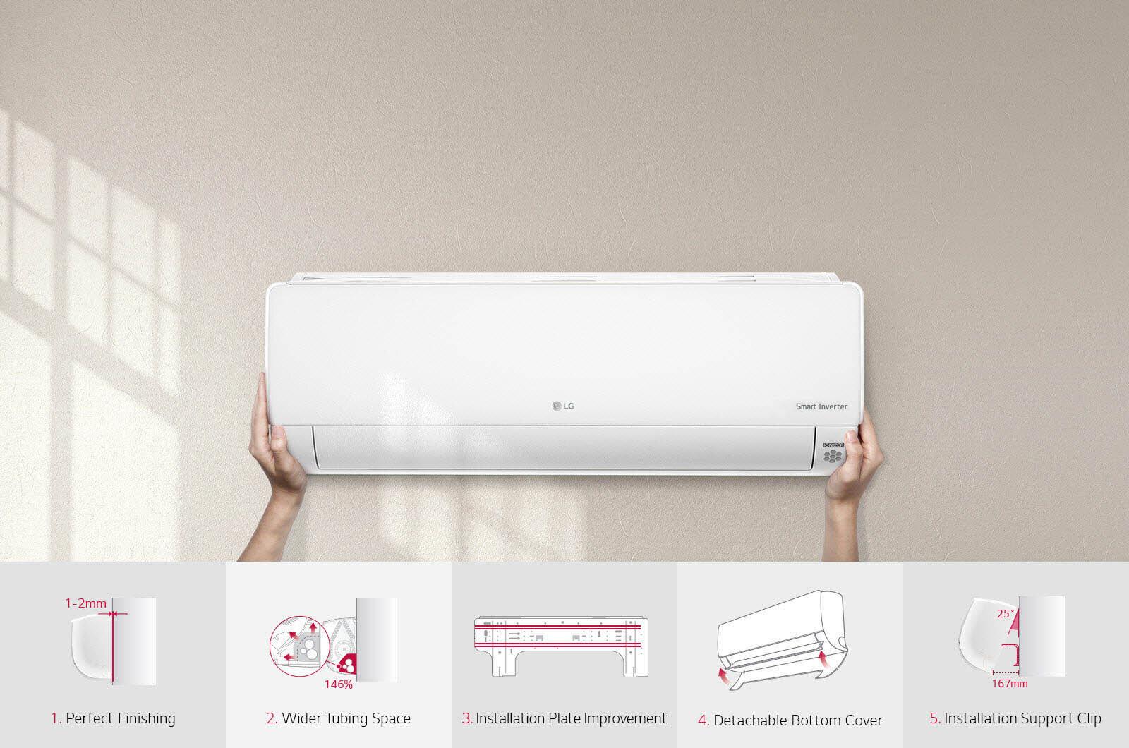 Điều hòa LG B13END với khả năng làm lạnh nhanh hơn 40% so với sản phẩm cùng phân khúc