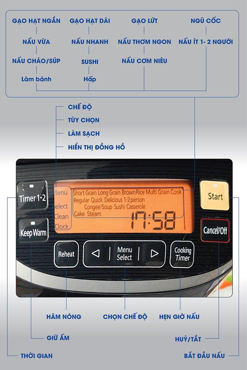 Nồi cơm điện cao tần Panasonic SR-PX184KRA phù hợp mọi không gian nhà bếp.