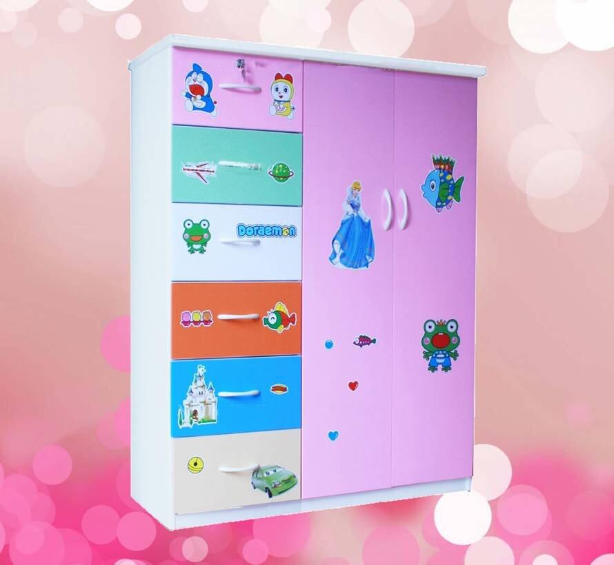 Tủ nhựa Đài Loan 2 cánh 6 ngăn giúp cho bạn có thể chứa được nhiều đồ hơn