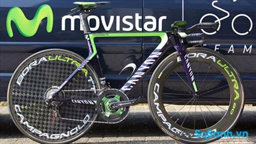 Canyon Speedmax của Movistar trong Tour de France 2015