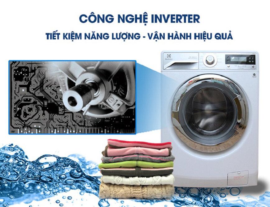 Máy giặt có lồng quay phía bên trong