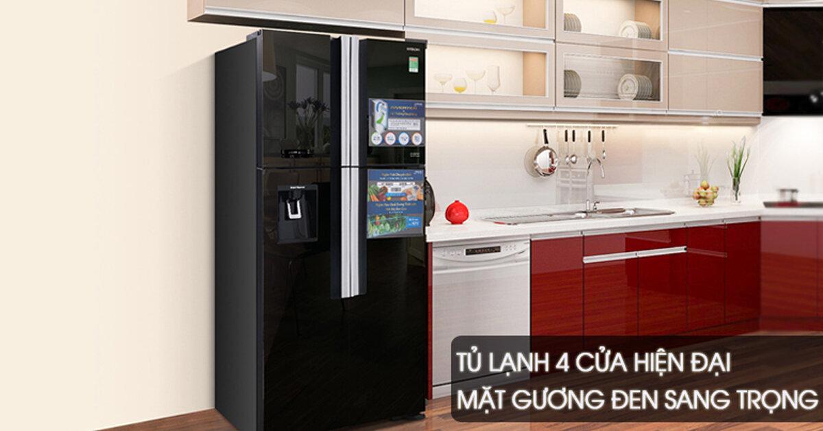 Tủ lạnh Hitachi được thiết kế sang trọng, bề mặt sáng bóng