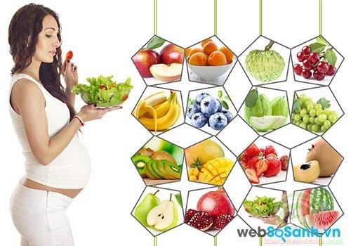 mẹ bầu nên tăng cường bổ sung các thực phẩm giàu DHA, cholin, axit folic, axit béo…