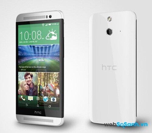 HTC One E8 có thiết kế nhựa nguyên khối
