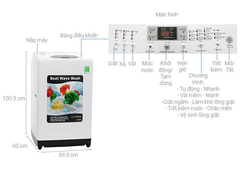 Máy giặt Hitachi SF-80XA 220-VT với tính năng chống rối đồ giặt