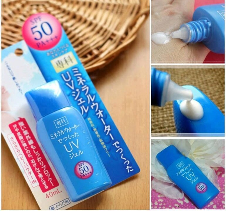 Kem chống nắng Shiseido Mineral Water Senka SPF 50/PA+++