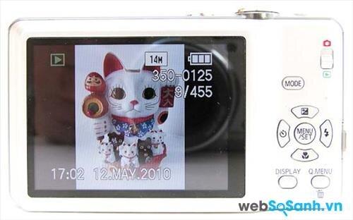 Máy ảnh compact Lumix DMC-FH20 sử dụng cảm biến CCD với kích thước cảm biến 6.08 x 4.56 mm, độ phân giải 14 MP