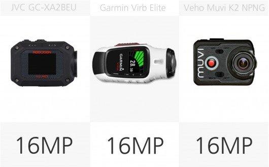 Action camera stills megapixel comparison (row 3)