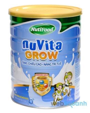 Sữa bột tăng cân cho bé Nuvita Grow