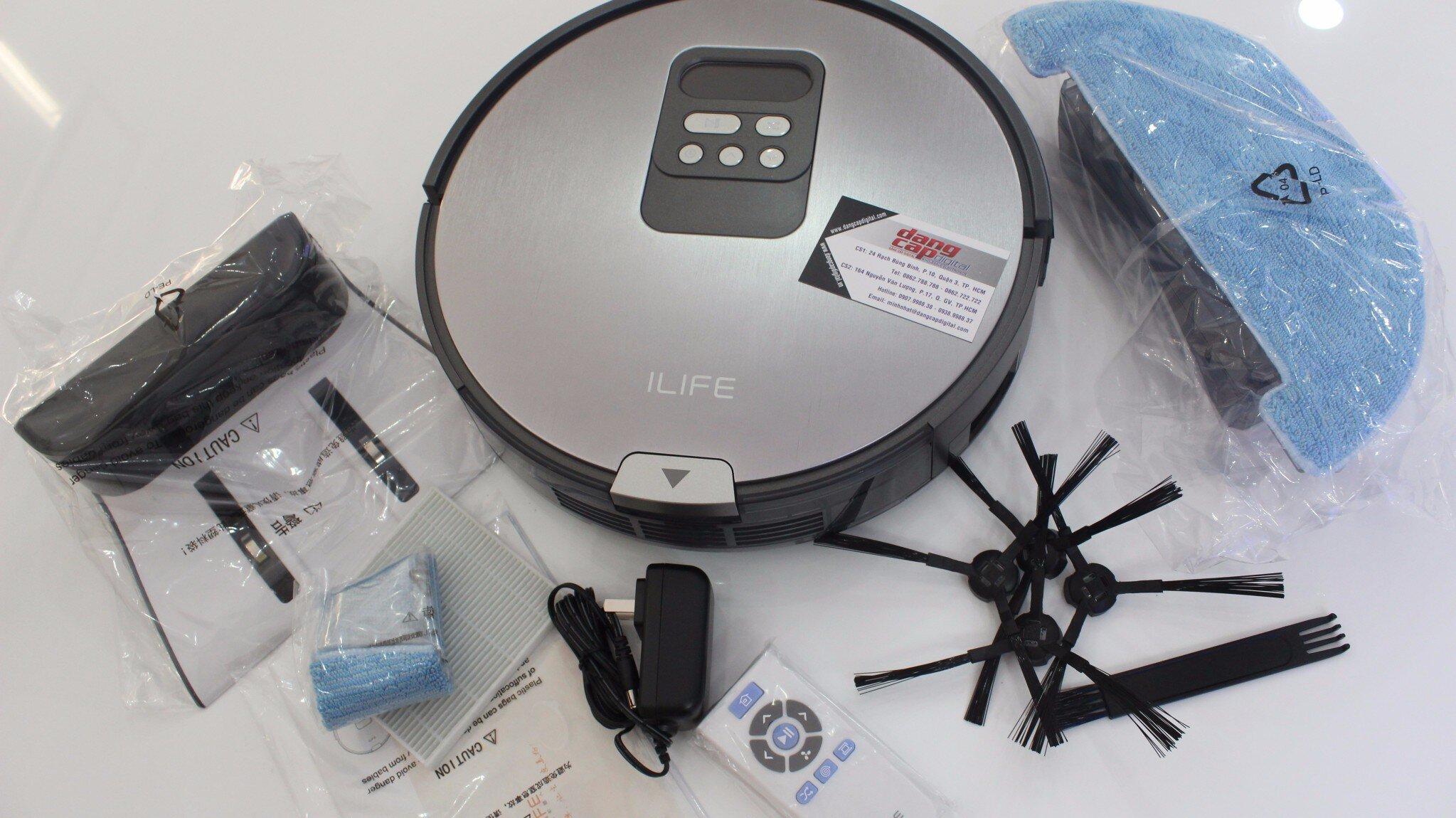 Các phụ kiện đi kèm robot hút bụi iLife X750