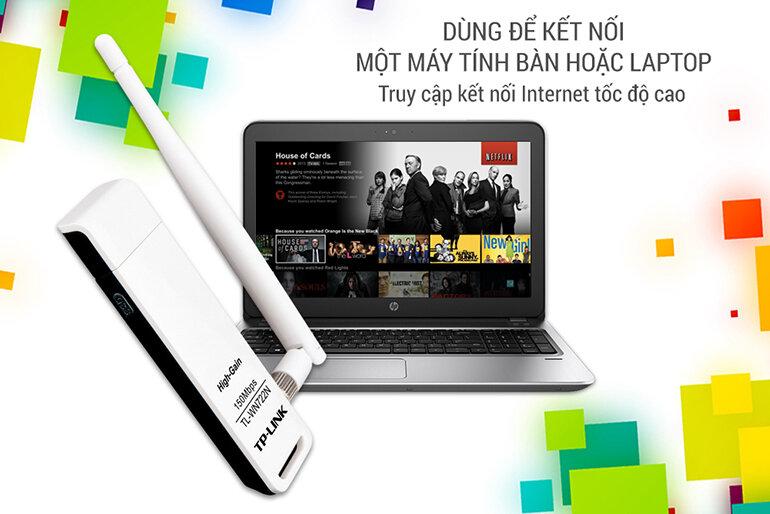 TL-WN722n có tốc độ mạng wifi lên tới 150Mbps (Nguồn: youtube.com)