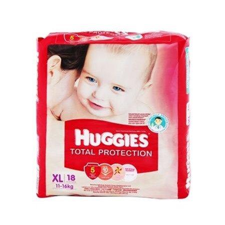 Tã dán Huggies Total Protection size XL là một dòng cao cấp của tã Huggies, nhập khẩu từ Singapo,