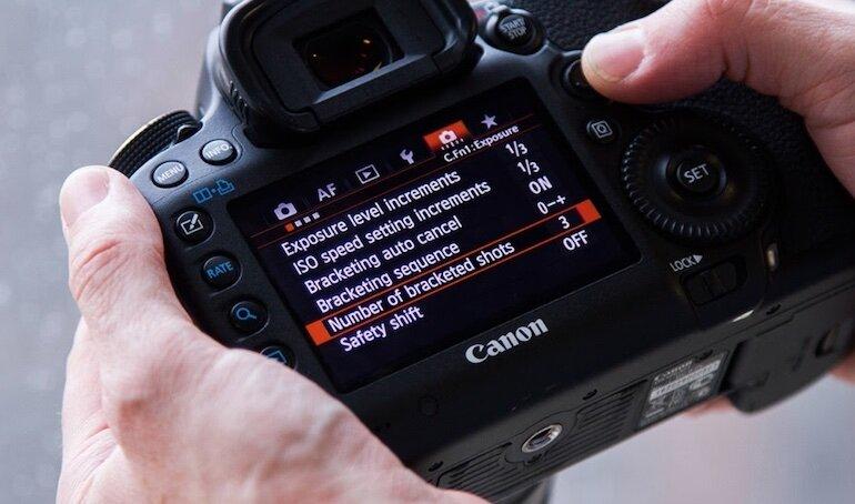 Các lưu ý thiết lập khi sử dụng máy ảnh Canon