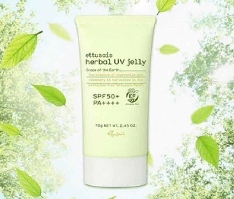 Gel chống nắng Ettusais Herbal UV jelly SPF 50+ PA ++++