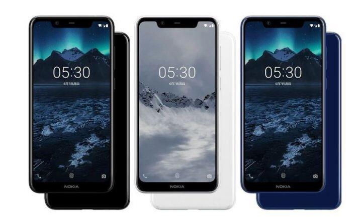 điện thoại Nokia X5 có 3 màu: đen, xanh và trắng