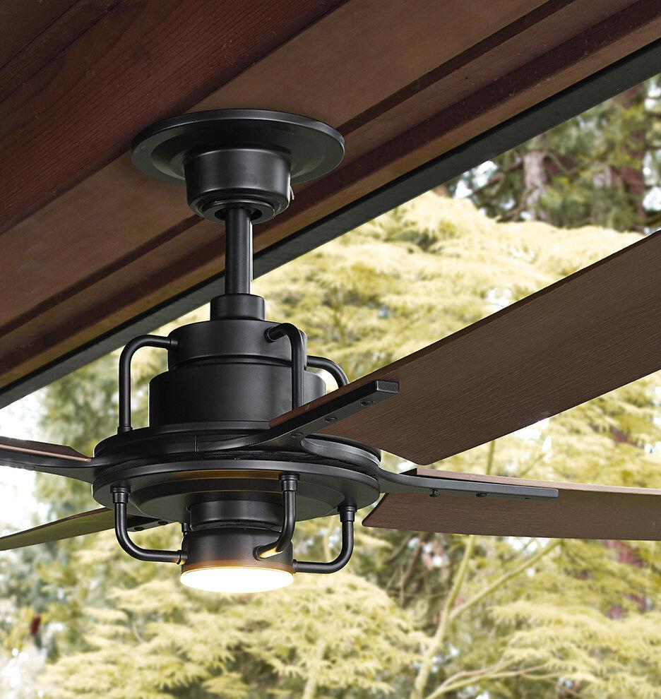 Quạt trần 4 cánh được tích hợp đèn led đổi màu