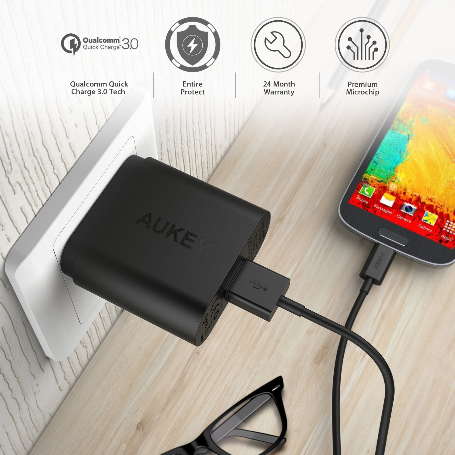 Sạc Aukey 29W Duo USB Wall Charger