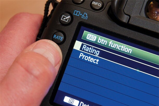 Canon EOS 5D Mark III tips: Rate button