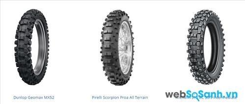 Một số mẫu lốp dành cho xe Motocross