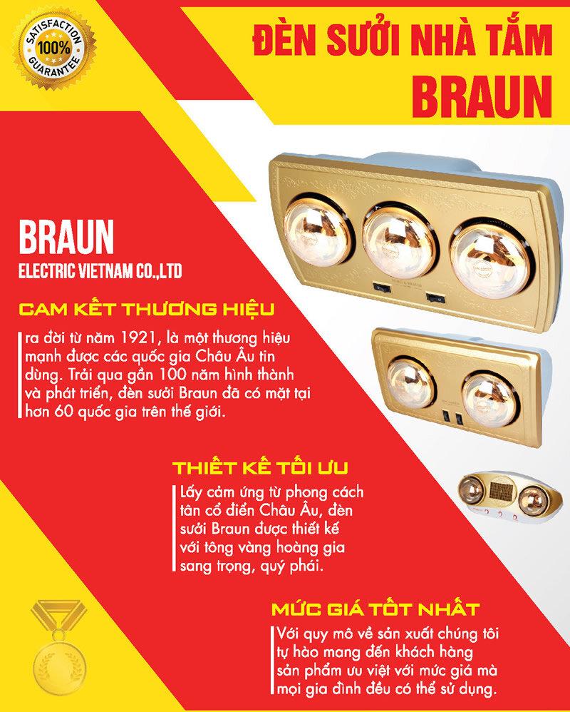 Đèn sưởi dành cho nhà tắm hãng Braun