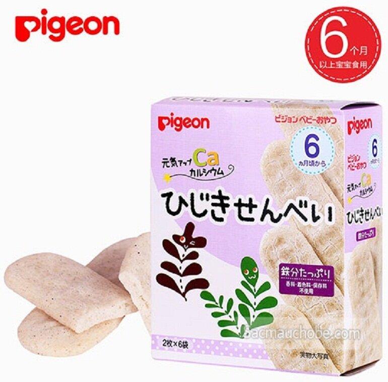 Bánh ăn dặm Pigeon được làm từ các nguyên liệu sạch, 100% organic