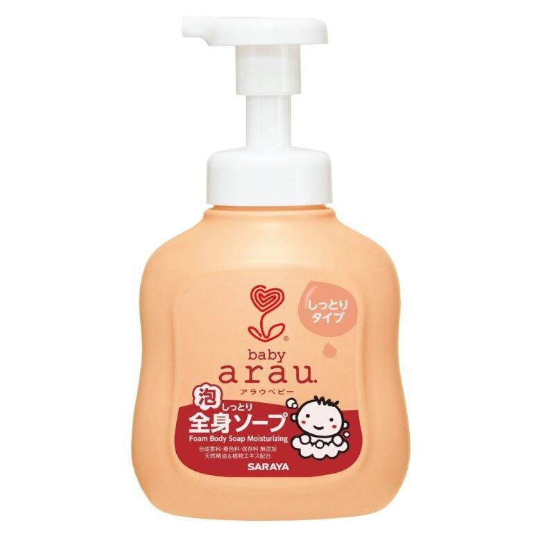Sữa tắm cho trẻ em của Nhật Arau Baby - Giá tham khảo: 102.000 vnđ – 272.000 vnđ/ chai 450ml