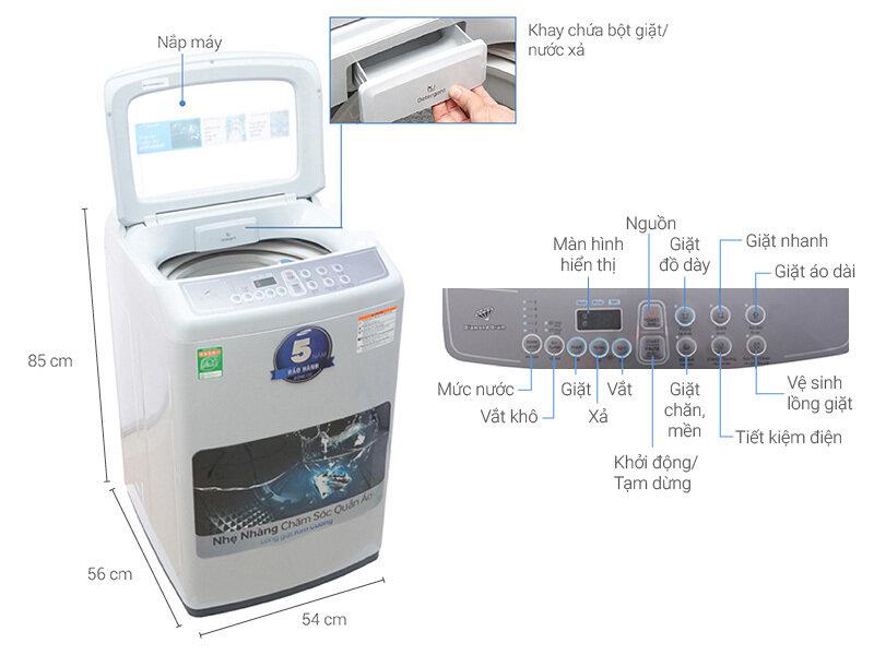 Máy giặt lồng đứng Samsung WA72H4000SW/SV trang bị công nghệ giặt Wobble mạnh mẽ