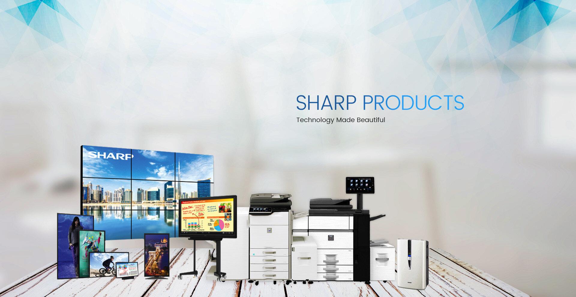 Nhà sản xuất Sharp với các dòng sản phẩm phổ biến