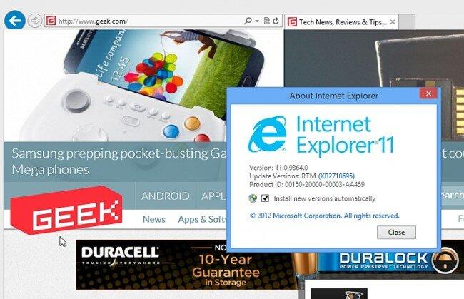 Microsoft bất ngờ dừng cập nhật IE11