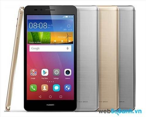 Điện thoại thông minh Huawei GR5 nhìn mạnh mẽ và sang trọng với thiết kế nguyên khối kim loại