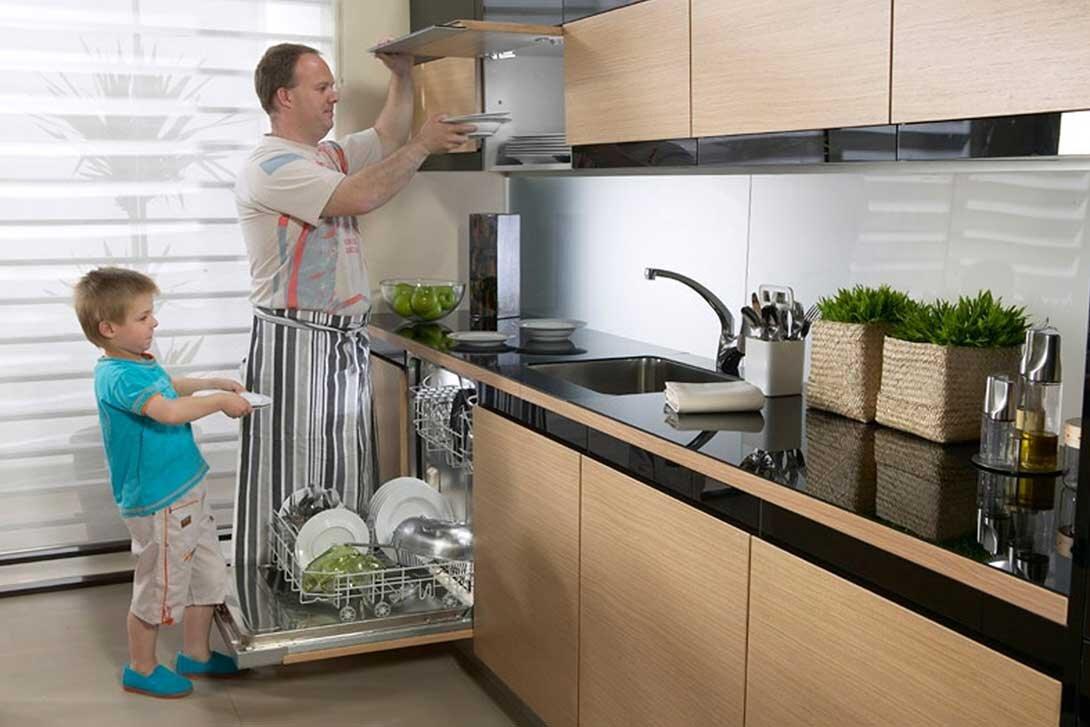 Máy rửa chén Toshiba thiết kế tinh tế, sang trọng, phù hợp nhiều gian bếp hiện đại