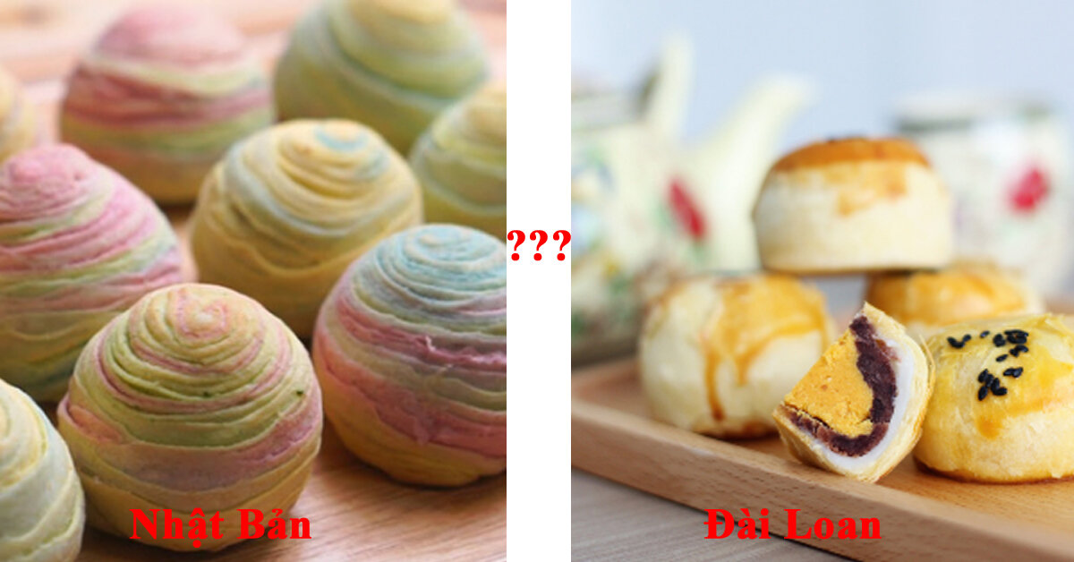 Sự khác biệt giữa bánh trung thu ngàn lớp Đài Loan và Nhật Bản