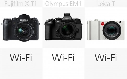 High-end mirrorless camera wireless comparison (row 1)