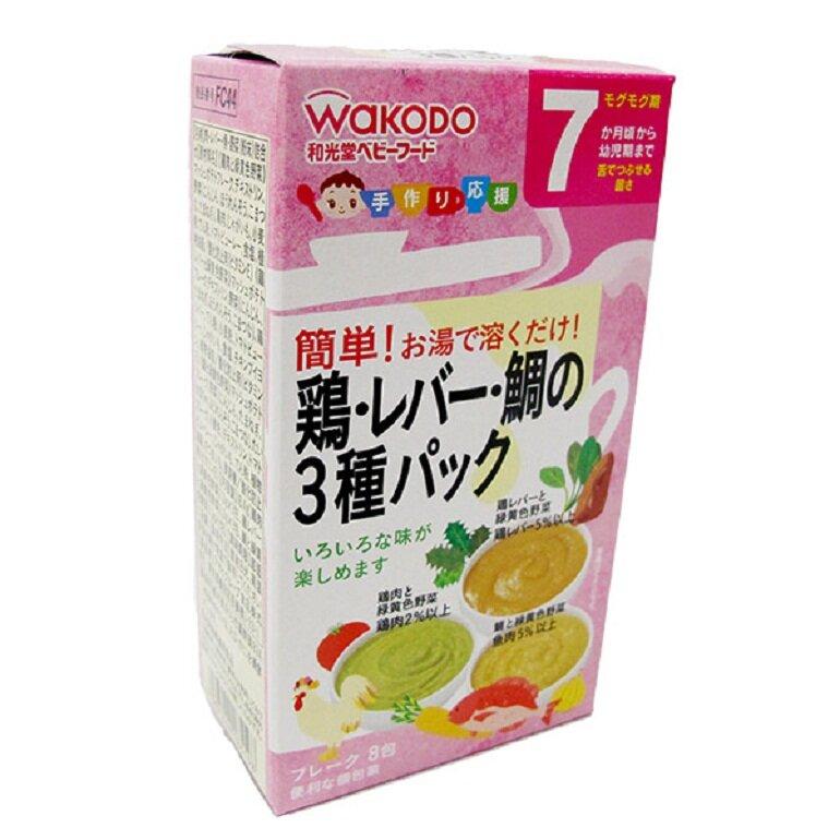 Bột ăn dặm Wakodo cung cấp đầy đủ các dưỡng chất cho bé yêu phát triển toàn diện
