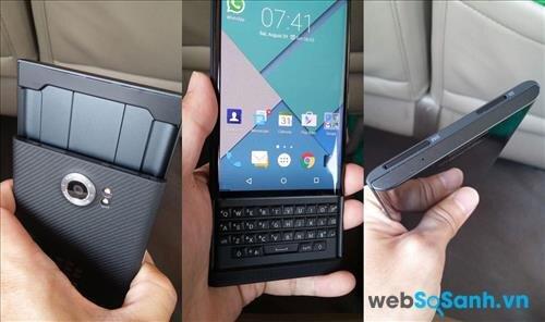 BlackBerry Priv nổi bật với bàn phím Qwerty trượt trứ danh của mình kết hợp với màn hình cảm ứng.