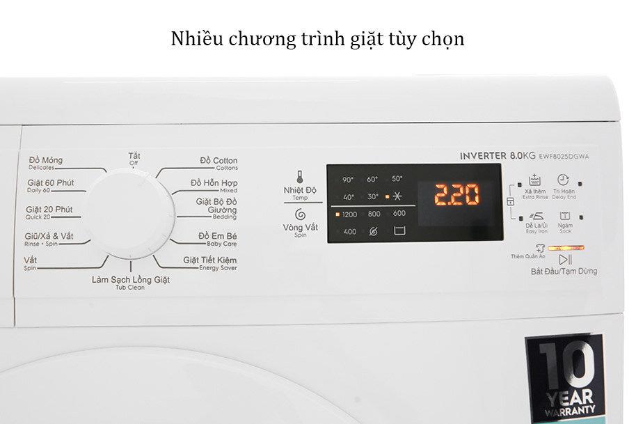 Nhiều chương trình giặt tự động giúp bạn dễ dàng lựa chọn hơn