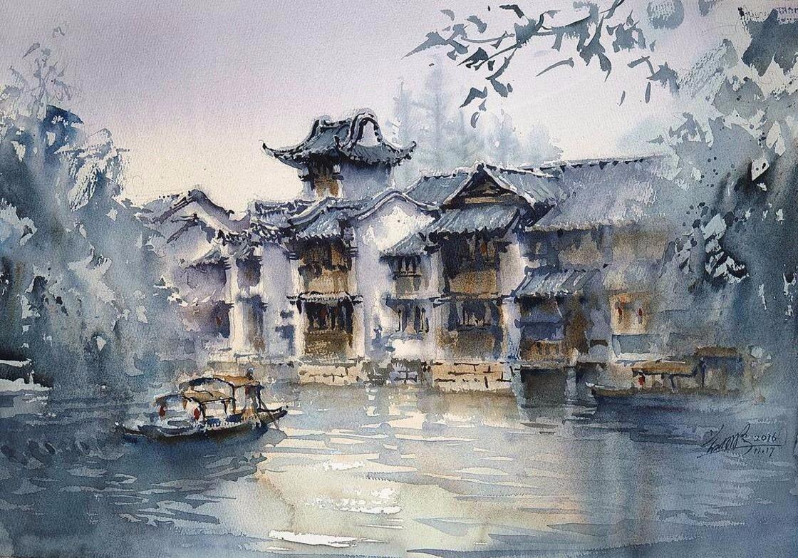 Khu nhà cổ xưa ở Trung Quốc với sắc màu giản dị