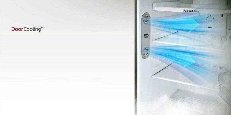 Tủ Lạnh LG Inverter GN-B255S 255 lít với công nghệ DoorCooling làm lạnh nhanh và đều