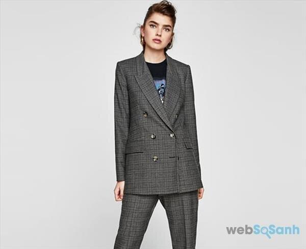 áo khoác blazer dáng dài áo khoác nữ
