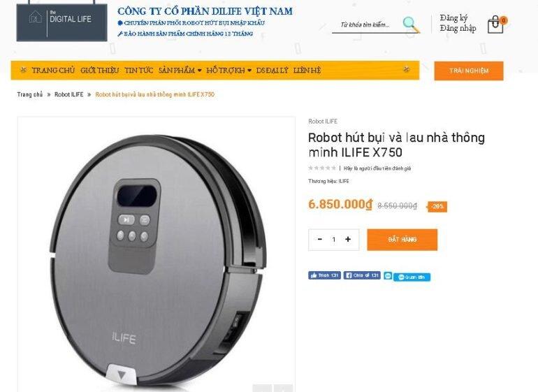 Tại Dilife Việt Nam, các model robot hút bụi thông minh của iLife đang khuyến mãi giảm giá tới 27% giá chỉ từ 4.250.000 vnđ.