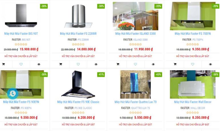 HSN khuyến mãi giảm giá cho sản phẩm máy hút mùi